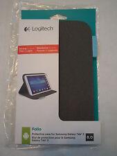 * NEW * Logitech Folio Protective 8-Inch Case for Samsung Galaxy Tab 3 - Black