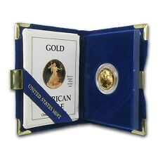 1990-P 1/4 oz Proof Gold American Eagle (w/Box & COA) - SKU #4917