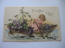 Violets, To The One I Love,  3 reproduction Post Cards,  new and ready to use