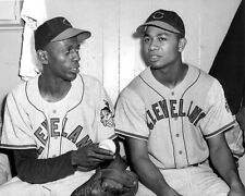 1948 Cleveland Indians SATCHEL PAIGE & LARRY DOBY Glossy 8x10 Photo Print Poster