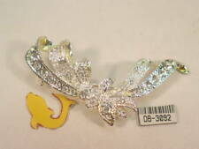 New ListingDesigner Dolphin Ore Pin Brooch Covered With Swarovski Crystals #3092