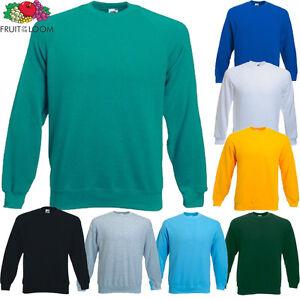 Fruit of the Loom Kinder Sweatshirt Neu Sweat Pullover Alter 3-4 bis Zu 12-13