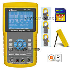 DW-6093 3 Phase Power Analyzer Meter Tester w/SD Card Real Time Data Recorder