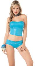 L3X 2085 Gogo Rave Blue Turquoise Sexy Bikini Exotic Dance Club wear S M