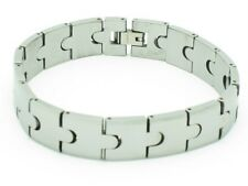 TUNGSTEN CARBIDE MEN'S FASHION LINK BRACELET HEAVY NIB