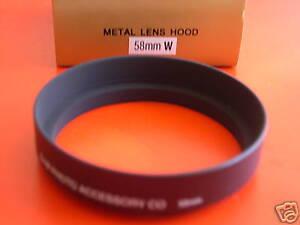New! Metal Wide Angle 58mm Screw-in Lens Hood