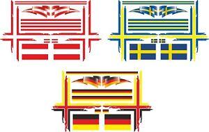 Schwedenkreuz Driver's Cab/Semi-Trailer 1:14 1:16 Truck Decal Sticker 038
