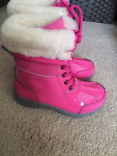 UGG Australia Girl's Pink Butte Snow Boots 5Y  - NEW