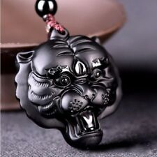 Natural 100% Tiger head Pendant Necklace Fashion Charm Jewelry Lucky Amulet K1