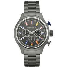 Nautica Uomo Orologio Watch Man Uhr NCT 16 Nai20011g Crono acciaio brunito Data