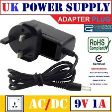 UK 9V 1A AC/DC POWER SUPPLY ADAPTER FOR COMPATIBLE X-ROCKER GAMING CHAIR MODELS