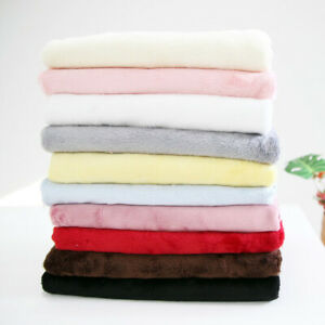 """Smooth Minky Fabric by the Yard Faux Fur Fabric by the Yard 59"""" Wide CM Downey"""