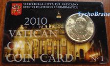 COIN CARD (50 cent) VATICANO 2010 VATIKAN VATICAN BU  Official Coincard N°1 euro