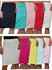 "Womens Stretch Skirt 22"" Smart Casual Slight Sheen Above Knee Size 6-18"