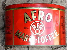 Blechdose,Afro,Marki-Toffee,wohl, 1930