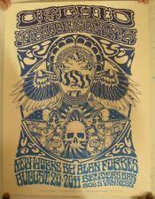 Orchid White Manna Poster Concert Bender's Bar August 20 2011 Silkscreen