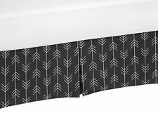 Black White Sweet Jojo Woodland Arrow Rustic Patch Queen Bed Skirt Dust Ruffle