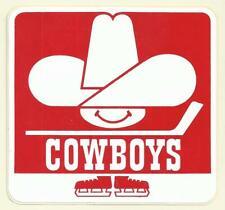 Vintage 1970's Calgary Cowboys WHA Hockey Unused Sticker