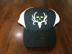 BONE COLLECTOR LOGO MESH TRUCKER SNAPBACK HAT CAP BLACK / White