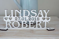 Personalised MR AND MRS sign, Two Names And Date Wedding Top Table Decoration
