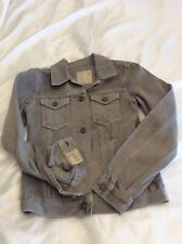 All Saints Spitalfields Grey Denim Dun Jacket Size 6 Uk