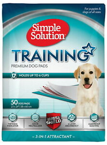 Simple Solution Training Pads for Dogs, Premium, 23x24 Inch, 50 Count