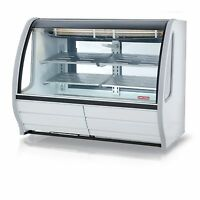 "TORREY 74"" PROKOLD CURVED GLASS WHITE DELI BAKERY DISPLAY CASE REFRIGERATED"