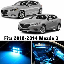 8 x Premium ICE BLUE LED Lights Interior Package Kit for Mazda 3