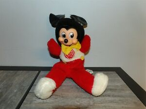 """EXTREMELY RARE 15"""" Vintage Gund J SWEDLIN Rubber Face MICKEY MOUSE w/ Laugh Box"""