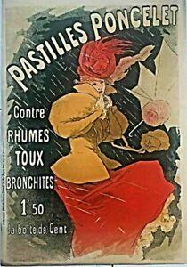 "Jules Cheret  ""Pastilles Poncelet""  Lithographic Poster Reprint"