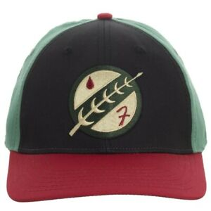 Star Wars Boba Fett Mandalorian Crest Embroidered Flex Fitted Cap Hat Bioworld