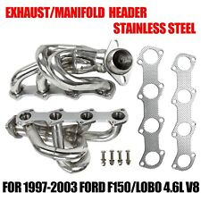 EXHAUST/MANIFOLD STAINLESS STEEL HEADER FOR 97-03 FORD F150/LOBO 4.6L V8 PICKUP