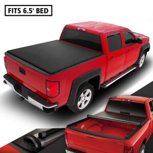 Bed Cover For 2007 to 2014 Chevy Silverado / GMC Sierra 6.5Ft Short Bed Roll -U