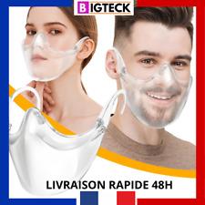 ⚡️1 Masque Visière ⚡️de Protection Transparent couvre nez visage antibuée 2020🦠