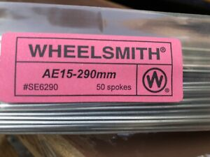 Wheelsmith AE-15- 290mm Silver spokes Pack Of 50
