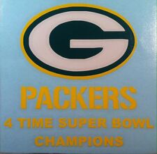 PACKERS 4 Time Super Bowl Champions