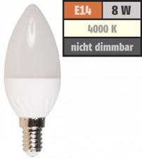 LED Kerzenlampe McShine, E14, 8W, 600lm, 160°, 4000K, neutralweiß, Ø37x105mm
