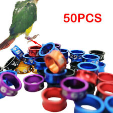 50x Aluminium alloy Closed-loop Bird Leg Bands Parrot Leg Rings Color-random Set