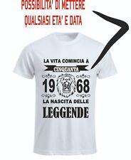 T-shirt uomo donna vita comincia anni leggende compleanno anno leone tutte età