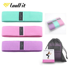 CoolFit 3Pcs Hip Band Yoga Resistance Band Wide Fitness Exercise Legs Band Loop