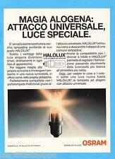 QUATTROR992-PUBBLICITA'/ADVERTISING-1992- OSRAM - HALOLUX