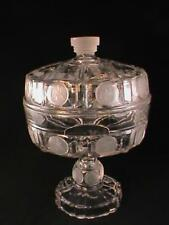 RARE EAPG US Columbian Coin Glass Covered Compote Scarce Original