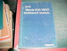 1976 MAZDA 808 (1600) FACTORY PRINT SERVICE WORKSHOP MANUAL  very good condition