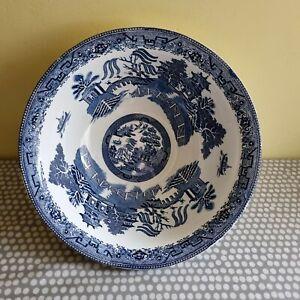 Vintage Maling Cetem Ware Large Blue & White Bowl c1900
