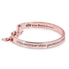 Disney rose plaqué or Winnie l'ourson message gravé Bracelet -Couture Royaume