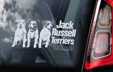 Jack Russell Terriers Car Sticker, Dog Window Sign Bumper Decal Gift Pet - V05