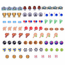 US Stock Many Ball Types 88pcs Shoe Charms Adapt For Boys Gifts fit Sports Shoes