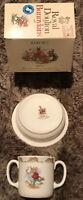 Royal Doulton Bunnykins England Baby Set Plate & Two Handled Mug