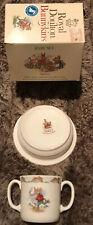Collectible Royal Doulton Bunnykins Baby Set Plate & Two Handled Mug
