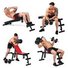Adjustable incline, flat, decline Multi-Purpose Foldable Weight Bench Press NEW